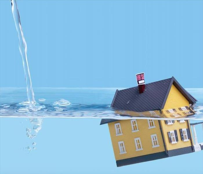 rendering of a water damaged home